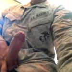 El pollón del militar marine