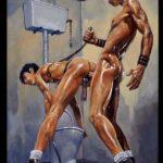Fetichismo gay follando en los lavabos de una discoteca