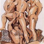 Orgía entre machos calientes sexo a tope
