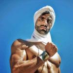 Belleza masculina sensual modelo árabe