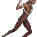 La belleza de hombre negro desnudo