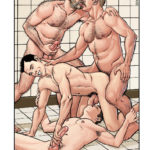 Sexo en pareja maduros y jóvenes en la sauna